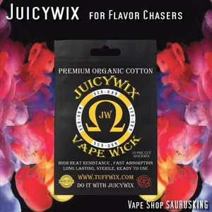 Juicywix Wicks VAPE用コットン / ジューシーウィックス*正規品*Tuffwix|saurusking