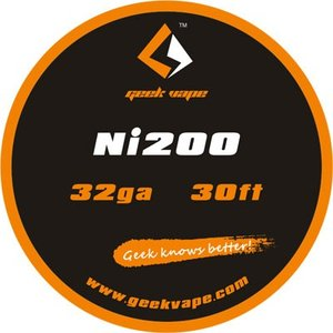 Geek Vape Wire Ni200 32Ga 30ft VAPE RBA / ギークベイプ ワイヤー ニッケル 温度管理|saurusking