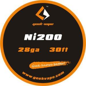 Geek Vape Wire Ni200 28Ga 30ft VAPE RBA / ギークベイプ ワイヤー ニッケル 温度管理|saurusking