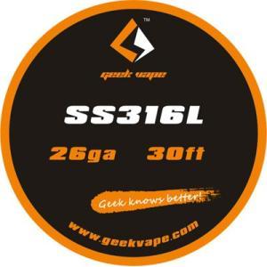 Geek Vape Wire SS316L 26Ga 30ft VAPE RBA / ギークベイプ ワイヤー ステンレス 温度管理|saurusking