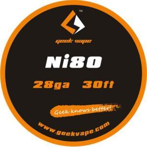 Geek Vape Wire Ni80 28Ga 30ft VAPE RBA / ギークベイプ ワイヤー ニクロム|saurusking