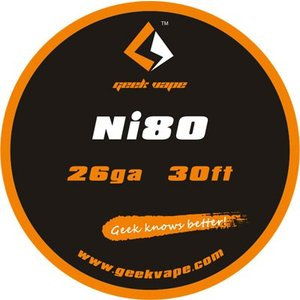 Geek Vape Wire Ni80 26Ga 30ft VAPE RBA / ギークベイプ ワイヤー ニクロム|saurusking