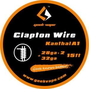 Geek Vape Wire Clapton Kanthal A1 15ft VAPE RBA / ギークベイプ ワイヤー クラプトン ダブル カンタル|saurusking