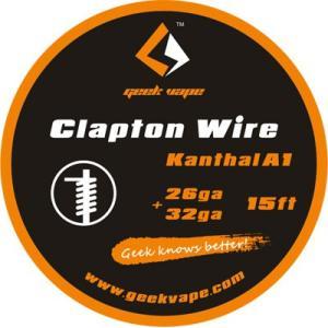 Geek Vape Wire Clapton Kanthal A1 15ft VAPE RBA / ギークベイプ ワイヤー クラプトン シングル カンタル|saurusking