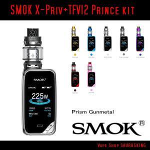 SMOK X-Priv + TFV12 Prince Tank kit Color:Prism Gunmetal / スモック スターターキット プリズムガンメタ*正規品*VAPE|saurusking