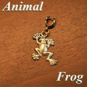 アニマル ペンダントTOP フロッグ col.Silver 動物/カエル/animal/蛙/両生類/ネックレス|savanna-tokyo
