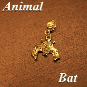 アニマル ペンダントTOP コウモリ col.Gold 動物/蝙蝠/animal/バッドマン/鳥/バード/ネックレス|savanna-tokyo