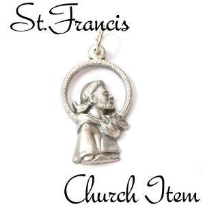 聖フランシスコ メダイ ペンダントTOP ペンダント ネックレス チャーム 教会 925 指輪 ヴィンテージ savanna-tokyo