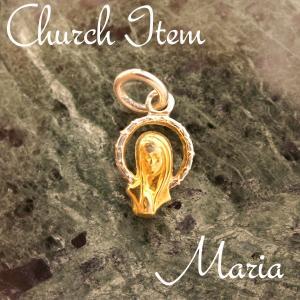 聖母マリア ペンダントTOP col.Gold ペンダント ネックレス チャーム 教会 925 指輪 ヴィンテージ|savanna-tokyo