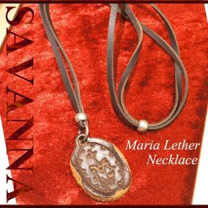 聖母マリアレザーネックレス メンズ チェーン レディース 革紐 |savanna-tokyo