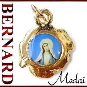 BERNARD 無原罪の聖母マリアと薔薇のメダイ  ペンダント ネックレス チャーム 教会 925 指輪 ヴィンテージ|savanna-tokyo