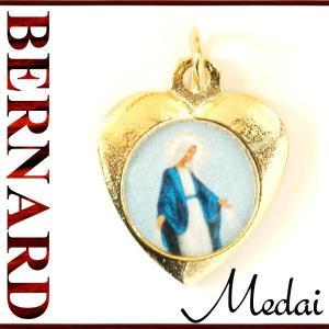 BERNARD 無原罪の聖母マリアハート型メダイ col.Gold  ペンダント ネックレス チャーム 教会 925 指輪 ヴィンテージ|savanna-tokyo