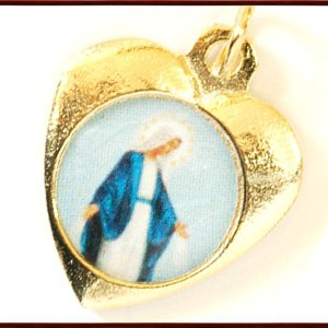 BERNARD 無原罪の聖母マリアハート型メダイ col.Gold  ペンダント ネックレス チャーム 教会 925 指輪 ヴィンテージ|savanna-tokyo|02