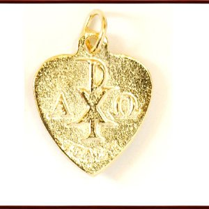 BERNARD 無原罪の聖母マリアハート型メダイ col.Gold  ペンダント ネックレス チャーム 教会 925 指輪 ヴィンテージ|savanna-tokyo|03