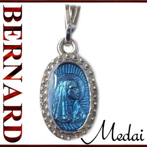BERNARD ルルドの聖母マリアとベルナデッタメダイ  ペンダント ネックレス チャーム 教会 925 指輪 ヴィンテージ|savanna-tokyo