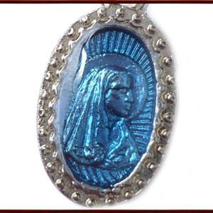 BERNARD ルルドの聖母マリアとベルナデッタメダイ  ペンダント ネックレス チャーム 教会 925 指輪 ヴィンテージ|savanna-tokyo|02