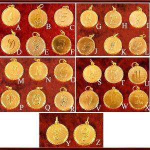 K18イニシャルコイン ペンダントTOP 18金 ネックレス 18k チャーム ハワイアンジュエリー ゴールド yメンズ コイン|savanna-tokyo|04