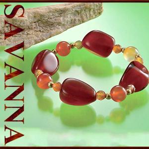 カーネリアンMIXブレスレット 天然石PowerStone ブレスレット 粒売り ビーズ ピアス ネックレス 連売り|savanna-tokyo