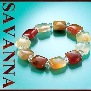 カーネリアン・水晶MIXブレスレット 天然石PowerStone ブレスレット 粒売り ビーズ ピアス ネックレス 連売り|savanna-tokyo