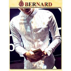 Cometゴールドボタンデザインシャツ col.White BERNARD savanna-tokyo