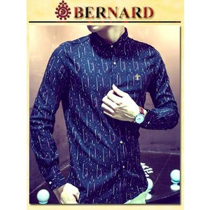 Cometゴールドボタンデザインシャツ col.Navy BERNARD savanna-tokyo