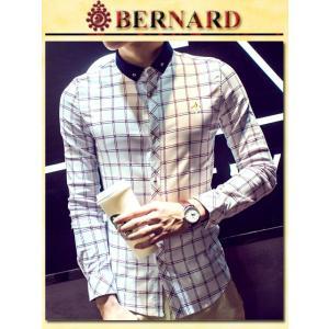 トリコロールチェックデザインシャツ col.White BERNARD savanna-tokyo