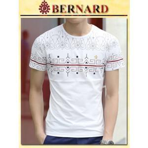 ピーコックデザインTシャツ col.White BERNARD savanna-tokyo