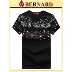 ピーコックデザインTシャツ col.Black BERNARD savanna-tokyo