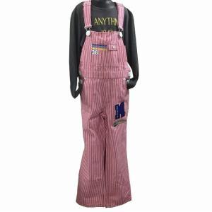 女児ストライプオーバーオール 140〜160cm 製品洗い ワッペン 刺繍 プリント sawadaya-net