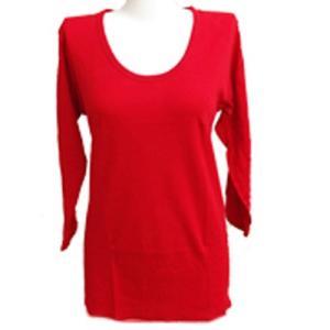 【赤の力】婦人8分袖スリーマー M〜LL 綿100% 健康長寿 赤肌着|sawadaya-net