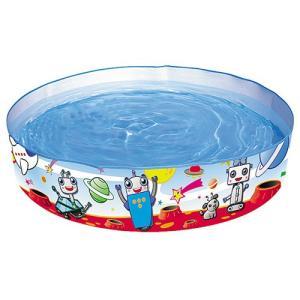 【処分特価】ウォールプール 122×25cm Bestway ロボット柄 水遊び 水浴び 自宅 庭|sawadaya-net