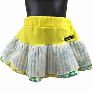 女児チュール使い切り替えミニスカート 80、95、110cm ワッペン プリント sawadaya-net