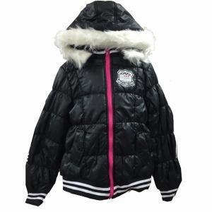 【値下げ】女児中綿ジャケット 140〜160cm ファスナー フード取外可 スタジャン風 【秋冬】 sawadaya-net