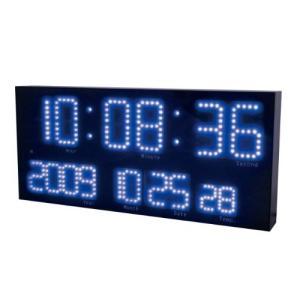 電波時計 デジタル 置き時計 大型ディスプレイ ブルー|sawagift