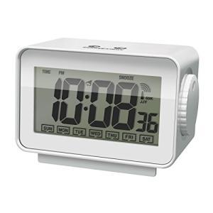 電波時計 デジタル 温度 湿度 SNOOZE ローヌ ホワイト|sawagift
