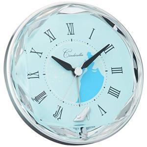 目覚まし 時計 アナログ シンデレラ Disney ディズニーキャラクター リズム時計 4SE546MC04|sawagift