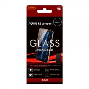 AQUOS R2 compact 液晶保護ガラスフィルム 9H 光沢 ソーダガラス|sawagift
