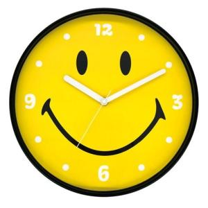 スマイル ウォールクロック SMILE にこちゃん アメリカン雑貨 時計 SM-5556910|sawagift