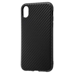 iPhoneXR 6.1インチ 専用 TPUソフトケース 耐衝撃Light Carbon カーボンブラック|sawagift