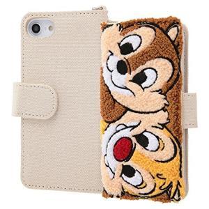 iPhone 8 ケース iPhone 7 ケース ディズニーキャラクター サガラ刺繍 手帳型ケース チップとデール|sawagift