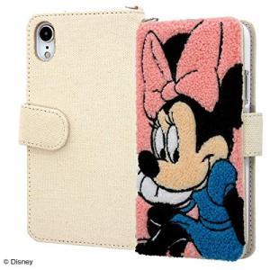 iPhone XR ディズニー サガラ刺繍 手帳型ケース 帆布 ミニー IS-DP18SGR1/MN|sawagift
