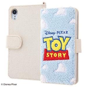 iPhone XR ディズニー ピクサー キャラクター サガラ刺繍 手帳型ケース 帆布 トイストーリー ロゴ|sawagift