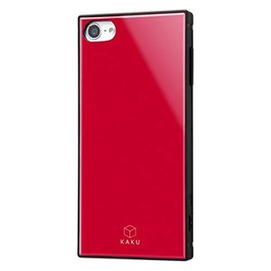iPod touch 第7世代 ケース 耐衝撃 ハイブリッドケース KAKU レッド アイポッドタッ...