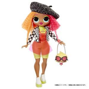 ドール L.O.L. サプライズ! O.M.G. ネオンリシャス スタンド付き 人形 ポージング ド...