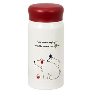 水筒 おしゃれ マグボトル 赤 レッド 保温 保冷 350ml POLAR BEARS FAM RA...