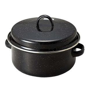 やきいも鍋 蒸し焼き ヘルシー 美味しい 調理 ガス火専用 ホーロー 油を使わない 22cm パール...