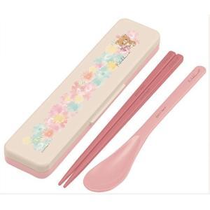 箸 スプーン セット リラックマ コンビセット 18cm フラワー 日本製 子供 キッズ 子供用 食...