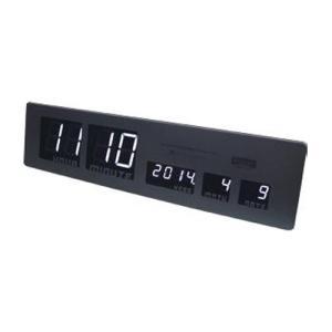 スロウワー 電波時計 LEDクロック アスカリ ブラック 置き掛け兼用 SLW 015|sawagift