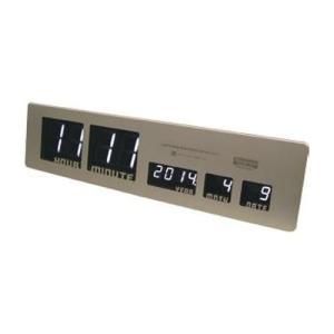 スロウワー 電波時計 LEDクロック アスカリ ゴールド 置き掛け兼用 SLW 016|sawagift