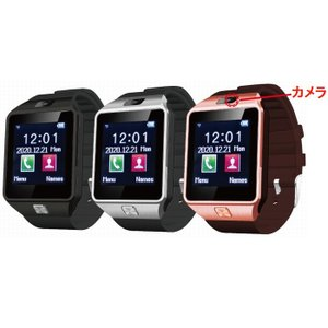 腕時計 スマートウォッチ PRO 選べる3色 スマホ連動 カメラ機能搭載 ウォッチだけで操作 mic...